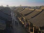 View of the historic old quarter of the Chinese city of Pingyao — Stock Photo