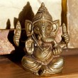 Ganesha - the elephant-headed man — Stock Photo