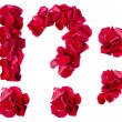 Punctuation marks made from red rose — Stock Photo #10859235
