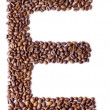 Alphabet from coffee beans. - Stock Photo