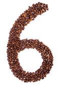 Numéro 6 des grains de café. — Photo