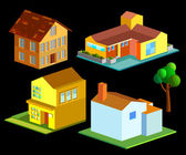 Isometric of house — Stock Vector