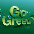 Go Green campaign poster — Stockvectorbeeld