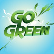 Go Green campaign poster — Stock Vector #11918161
