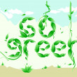 Go Green campaign poster — Stock Vector