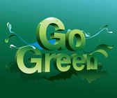 Go Green campaign poster — Stock Vector