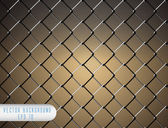 Chain Fence. Vector — Stock Vector