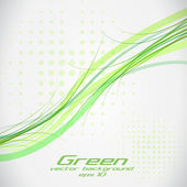 Green lines.vector eps 10 — Stockvector