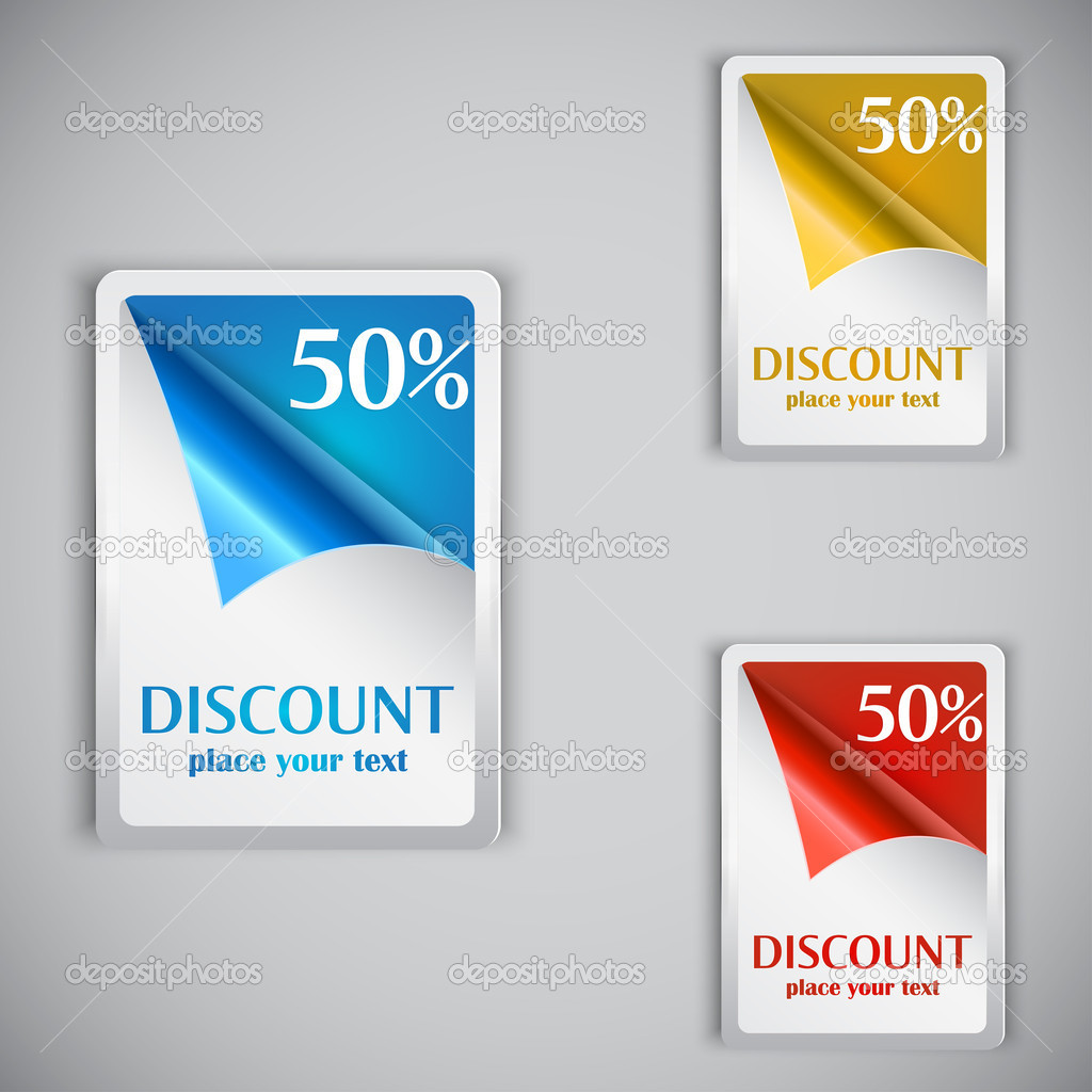 Discount cards. Vector  Stock Vector #11464930