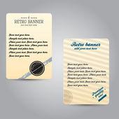 Old vector retro vintage label — Stock Vector
