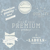 Vintage Premium Quality and Guarantee Label collection with grun — Stock Vector