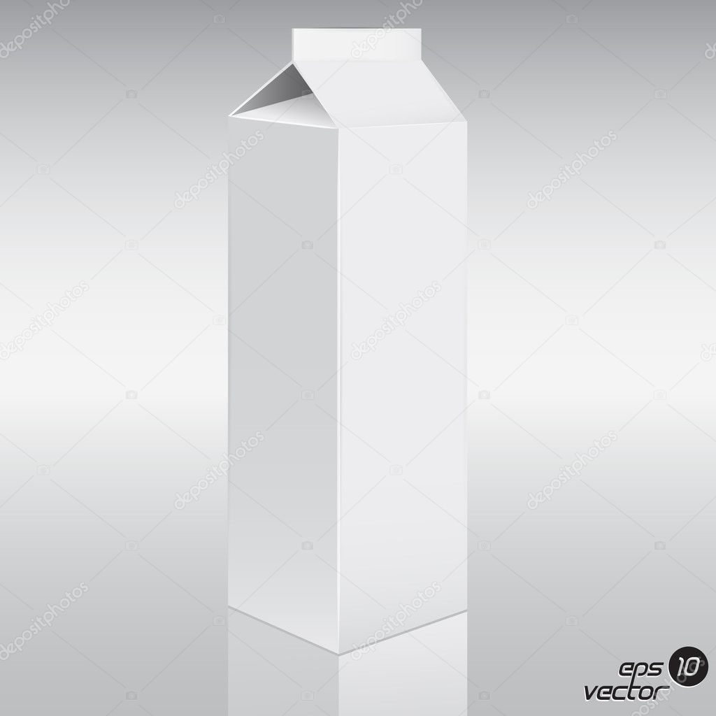 Juice pack. 3d illuctration. vector eps 10  Imagen vectorial #11953307
