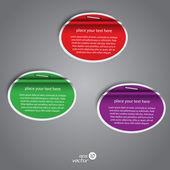 Kolekcja kolorowych etykiet. wektor — Wektor stockowy