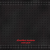 Black background made of leather texture.Vector — ストックベクタ