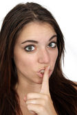Attractive Secretive or Quiet Brunette (1) — Stock Photo