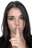 Attractive Secretive or Quiet Brunette (2) — Stock Photo