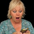 Mature Blonde Woman with Cell Phone (3) — Stock Photo