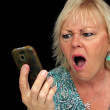 Mature Blonde Woman with Cell Phone (5) — Stock Photo
