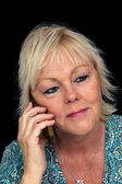Mature Blonde Woman with Cell Phone (1) — ストック写真