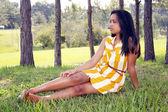 Cute Teen Latina Outdoors (9) — Stock Photo