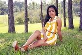 Cute Teen Latina Outdoors (10) — Stock Photo