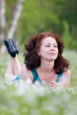 Portrait of the carefree woman — Stock Photo