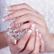Beautiful female hands with manicure — Stock Photo #11271199