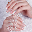 Beautiful female hands with manicure — Stock Photo #11271383