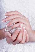 Beautiful female hands with manicure — Stock Photo