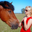 Girl and horse — Stock Photo #11313864