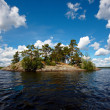 Stock Photo: The island on the lake