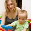 Baby And Mother Playing With The Toys — Foto Stock