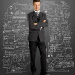 Businessman In Suit Full Length — Stock Photo #10909695