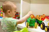 Baby Playing With The Toys — Stock Photo
