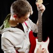 Man With The Guitar — Stock Photo