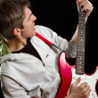 Man With The Guitar — Stock Photo #11155483