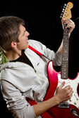 Man With The Guitar — Foto Stock