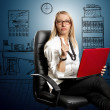 Business Woman In Chair — Stock Photo #11301675