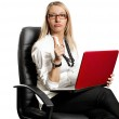 Business Woman In Chair — Stock Photo #11301682