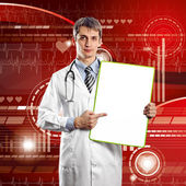 Doctor Man With Write Board — Stock Photo