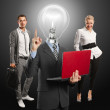 Lamp Head Man And Business Team — Stock Photo #11387049