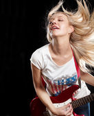 Woman Playing the Guitar — ストック写真