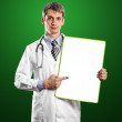 Doctor Man With Write Board — Foto de Stock