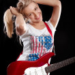 Woman Playing the Guitar — Stock Photo #12372081