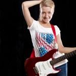弹吉他的女人 — 图库照片