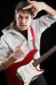 Man With The Guitar — Foto de Stock