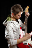 Man With The Guitar — Stockfoto