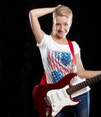 Woman Playing the Guitar — Foto Stock