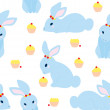 Cute Rabbit Pattern — Vector de stock #10846095