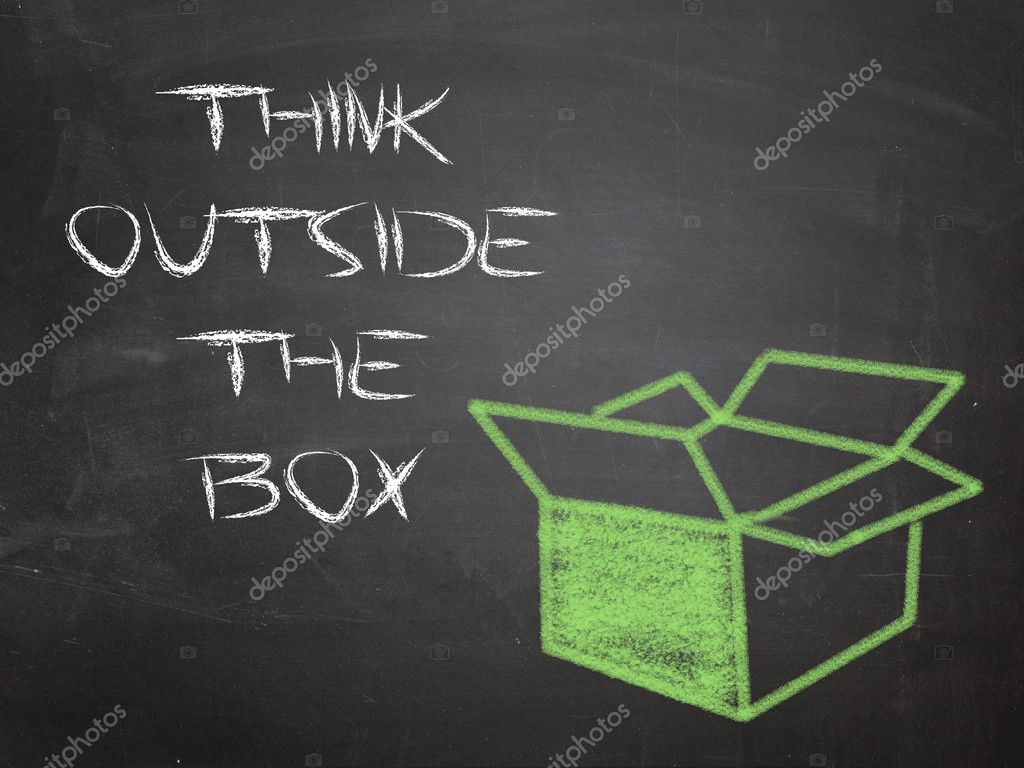 Think outside the box — Stock Photo #10910950